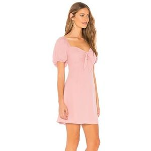 About Us by Revolve Clarissa Tie Mini Dress Small Pink
